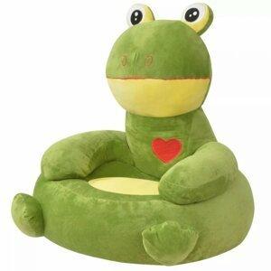 Dětské křeslo plyš Dekorhome Žába