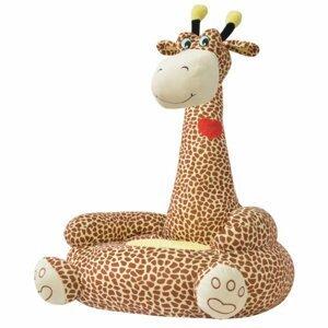 Dětské křeslo plyš Dekorhome Žirafa