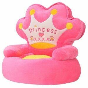 Dětské křeslo Prince plyš Dekorhome Růžová