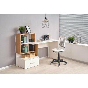 Psací stůl s úložným prostorem GROSSO Halmar Bílá