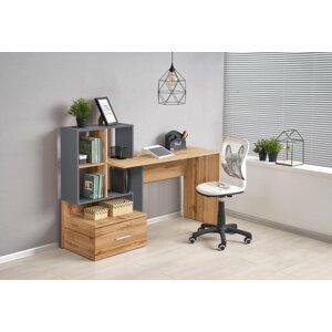Psací stůl s úložným prostorem GROSSO Halmar Antracit