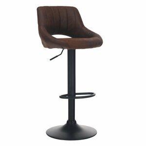 Barová židle LORASA látka / kov Tempo Kondela Hnědá