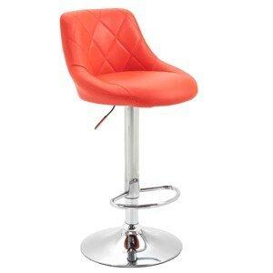 Barová židle MARID ekokůže / kov Tempo Kondela Červená