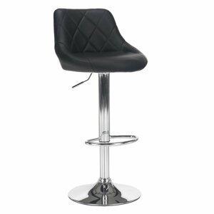 Barová židle MARID ekokůže / kov Tempo Kondela Černá