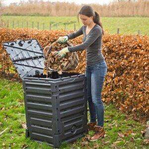 Zahradní kompostér 300l černý Dekorhome
