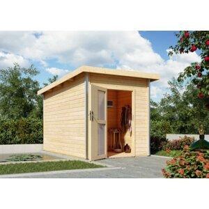 Venkovní finská sauna s předsíní 196 x 363 cm Dekorhome