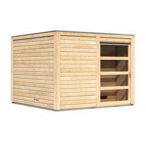 Venkovní finská sauna s předsíní 276 x 276 cm Dekorhome Smrk