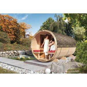 Venkovní finská sudová sauna 216 x 400 cm Dekorhome