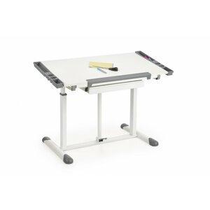 Dětský psací stůl B-42 bílá / šedá Halmar
