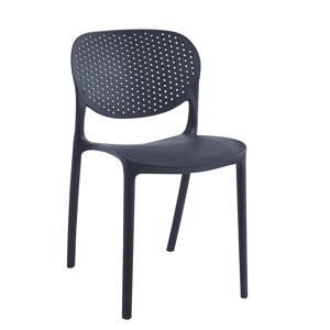 Plastová židle FEDRA stohovatelná Tempo Kondela Černá