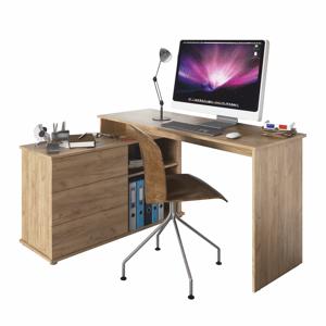 Rohový PC stůl TERINO Tempo Kondela Dub