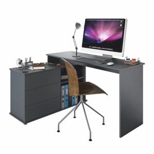 Rohový PC stůl TERINO Tempo Kondela Grafit