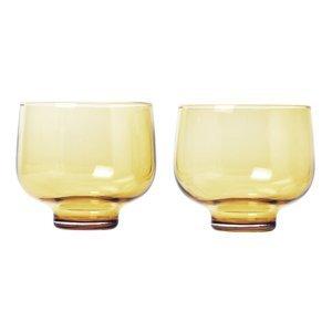Blomus Set 2 skleniček FLOW matná zlatá 0,22 l