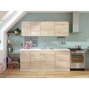 Rovná kuchyně line 200 cm (dub sonoma)