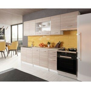 Rovná kuchyně paloma 260 cm (dub sonoma)