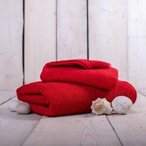 Ručník a osuška or01 (červená, 50x100 cm, 70x140 cm)