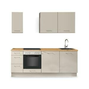 Kuchyně Inge 220 cm (šedá, dub) HENRY STYLE