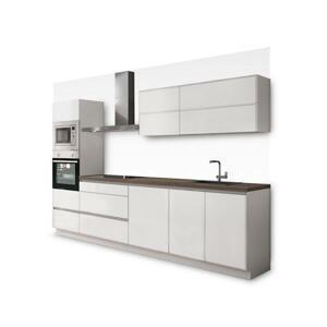 Kuchyně Eugenie 300 cm (bílá, vysoký lesk, lak) HENRY STYLE