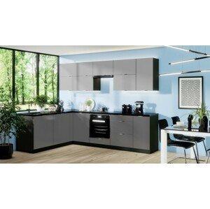 Rohová rohová kuchyně mindy levý roh 270x180 cm (šedá mat)