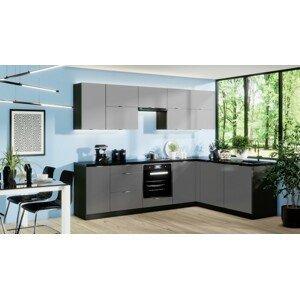 Rohová rohová kuchyně mindy pravý roh 270x180 cm (šedá mat)