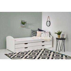 Dřevěná dvoulůžková postel lexia, úp (bílá)