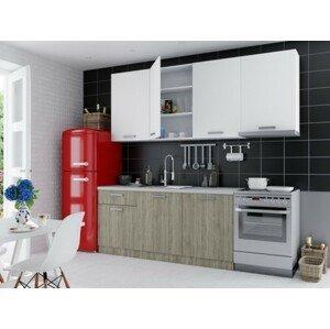 Rovná kuchyně siena 240 cm (dub sonoma, bílá)
