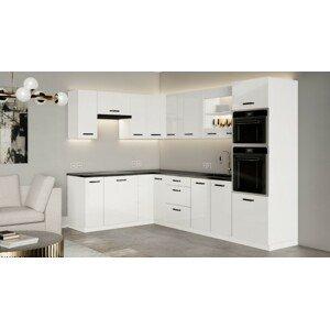 Rohová kuchyně Vicky white levý roh 290x180 cm(bílá vysoký lesk)