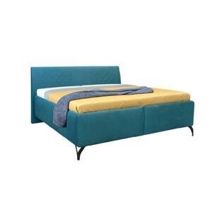 Čalouněná postel Melissa 180x200, tyrkysová, včetně matrace a ÚP