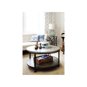 Kulatý konferenční stolek Retro 60x45x60 z mangového dřeva Mango natural