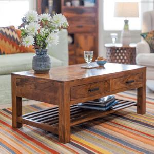Konferenční stolek Rami 110x45x60 z indického masivu palisandr / sheesham Only stain