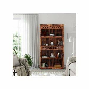 Knihovna Mira 90x180x35 z indického masivu palisandr / sheesham Super natural