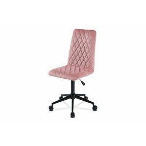 Dětská kancelářská židle KA-T901 látka/ kov Autronic Růžová