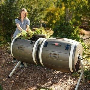 Dvojitý rotační kompostér 380l Dekorhome