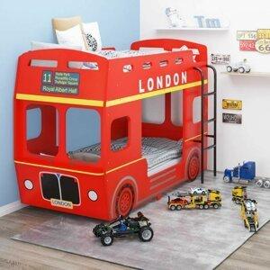 Dětská postel červený autobus Dekorhome