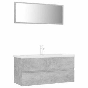 Koupelnový set 4 ks Dekorhome Beton