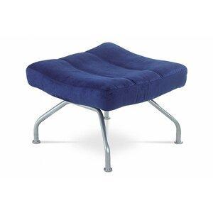 Taburet BS-SU2 BLUE modrá / šedostříbrná