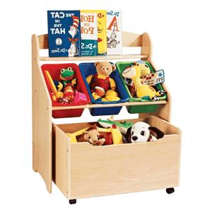 Regál na hračky MAISIE přířodní / vícebarevná Tempo Kondela