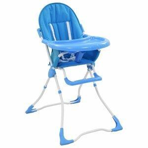 Dětská jídelní židlička Dekorhome Modrá