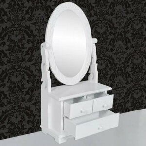 Toaletní stolek se zrcadlem bílá Dekorhome