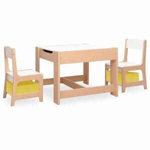 Dětský set MDF Dekorhome Přírodní dřevo