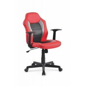 Dětská židle NEMO červená / černá Halmar