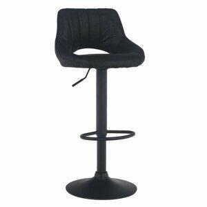 Barová židle LORASA látka / kov Tempo Kondela Černá