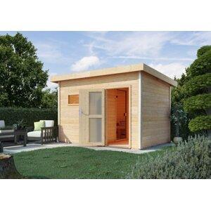 Venkovní finská sauna s předsíní 393 x 231 cm Dekorhome