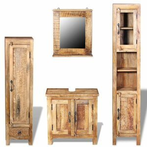 Koupelnová sestava dřevo Dekorhome Mangovníkové dřevo