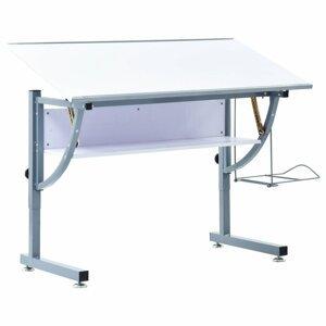 Studentský kreslící stůl Dekorhome Bílá