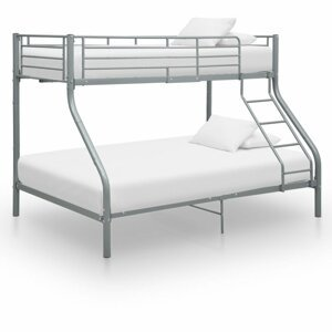 Patrová postel kov Dekorhome Šedá