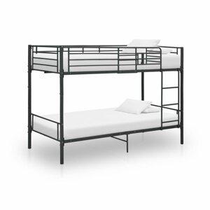 Patrová postel 90x200 cm kov Dekorhome Černá