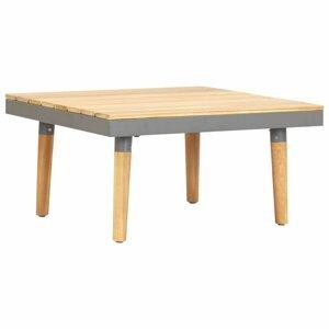 Zahradní konferenční stolek hnědá / šedá Dekorhome