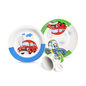 Orion 3dílná dětská jídelní sada Auto
