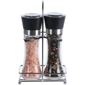 Sada mlýnku na sůl a koření ve stojánku